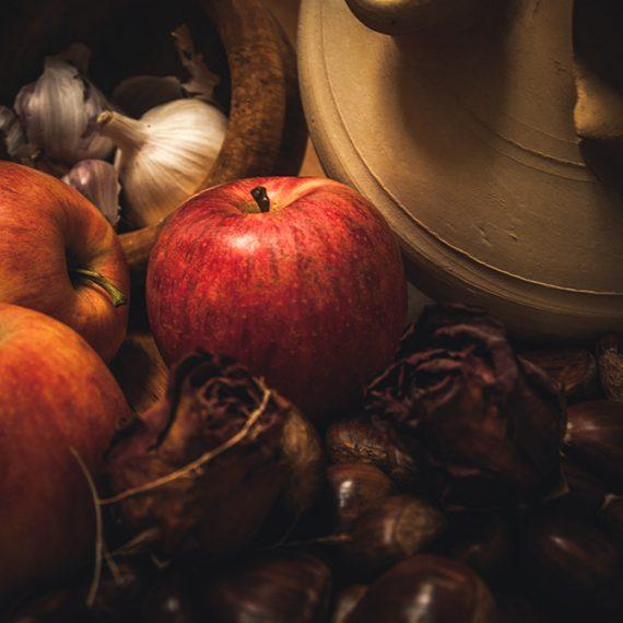 Castañas y manzanas – chestnuts and apples